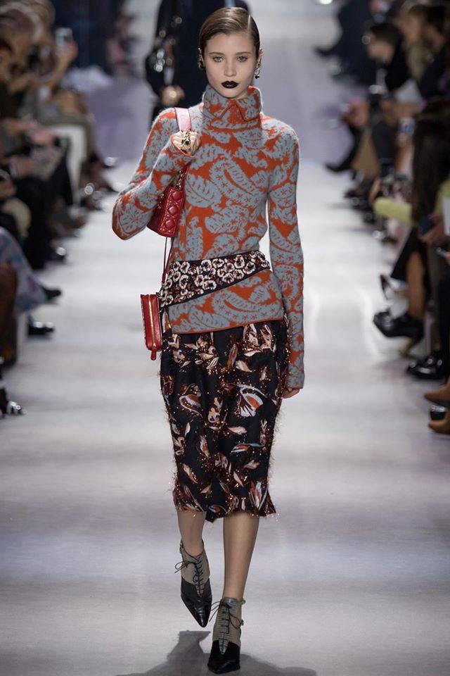 принт пейсли Dior Fall 2016