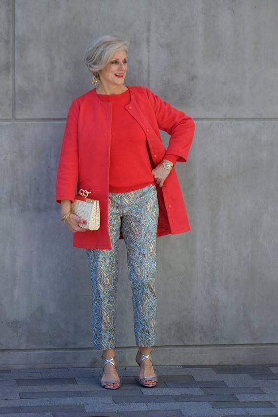 Укороченные брюки с принтом пейсли