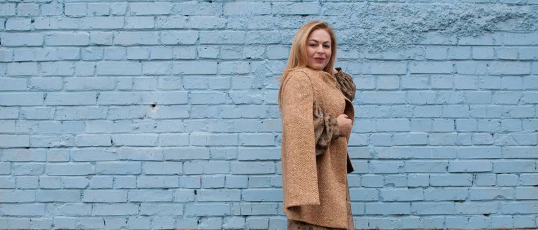 Модные осенние пальто кейп и модные осенние платья