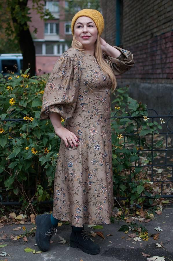 Модные осенние платья миди
