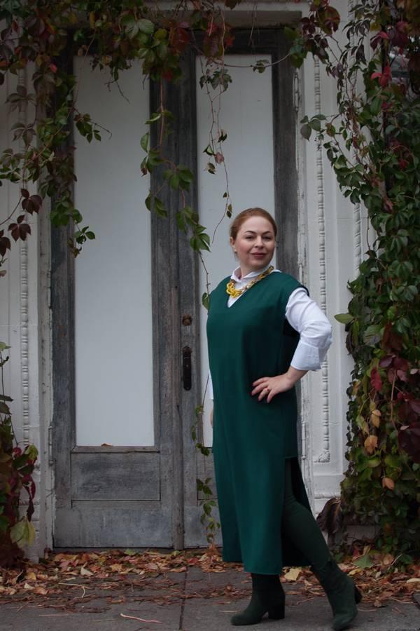 белая рубашка, платье монохром, украинские бренды, как одеваться девушке маленького роста