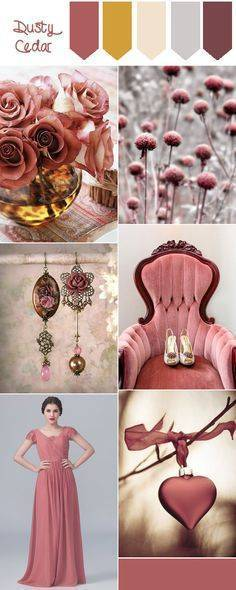 С чем носить модный розовый цвет Dusty Cedar