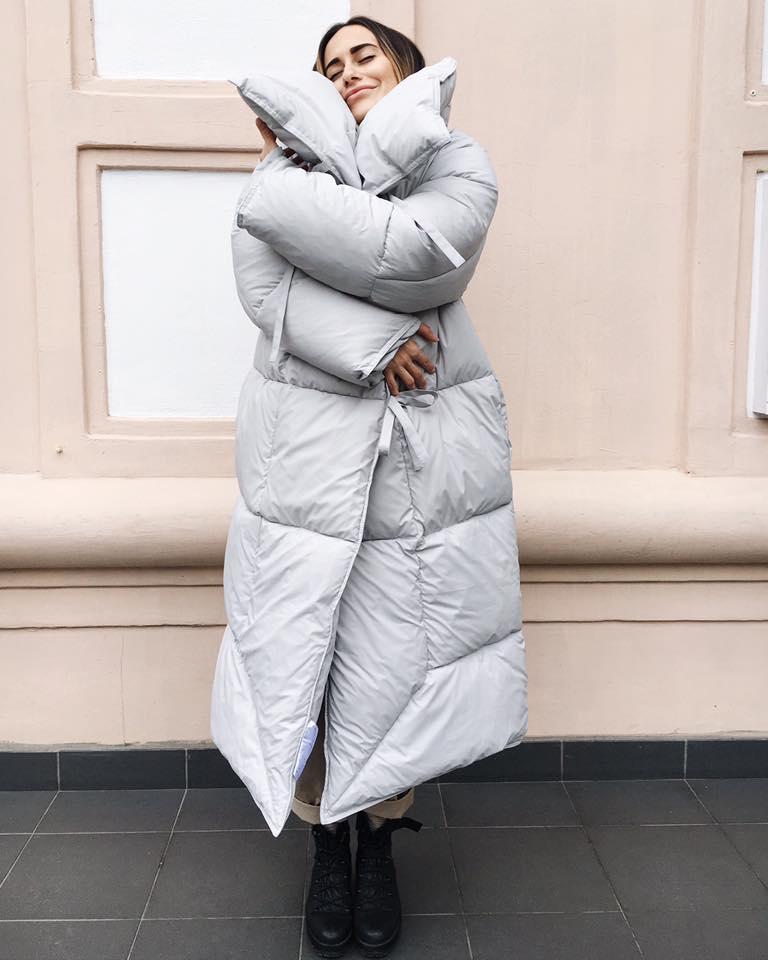 теплые пальто-одеяла украина Katsurina