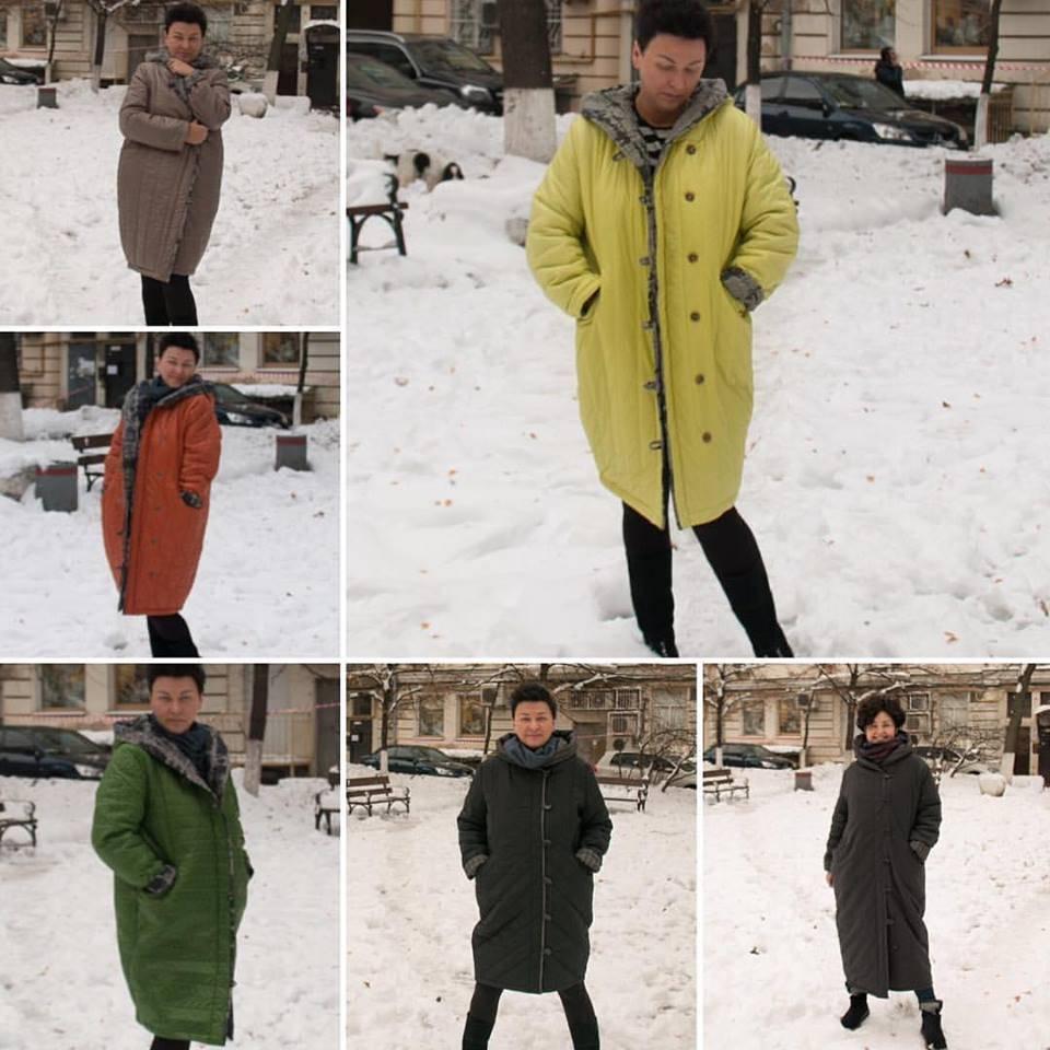 Теплые пальто-одеяла Украина Zosya Yanishevska