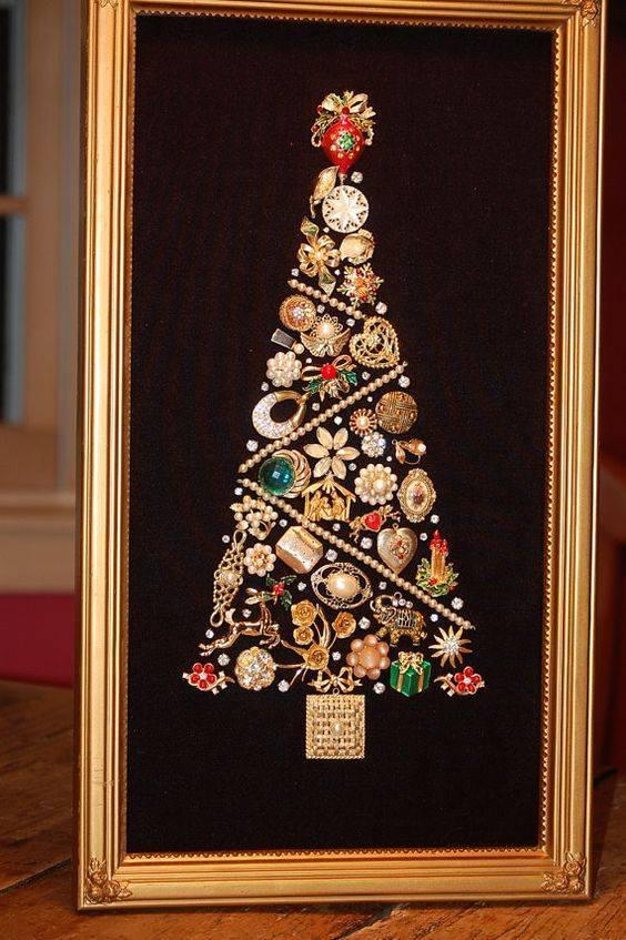 Как украсить елку креативно необычно елка из брошек как нарядить елку
