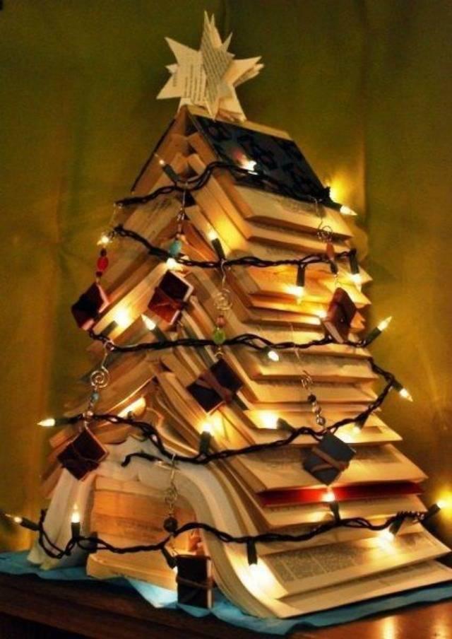 как украсить елку как нарядить елку своими руками елка из книг