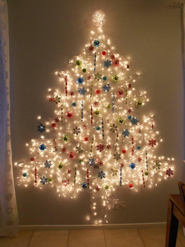 как украсить елку как нарядить елку своими руками елка на стене