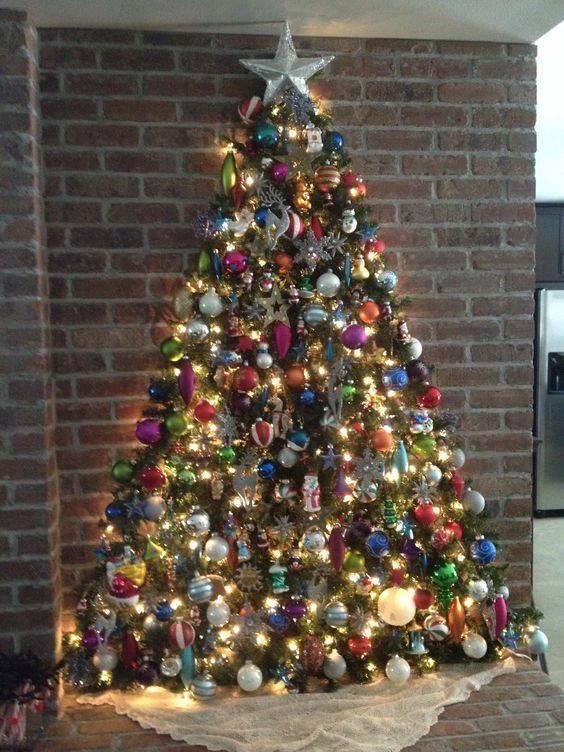 как украсить елку рождественский декор своими руками как нарядить елку