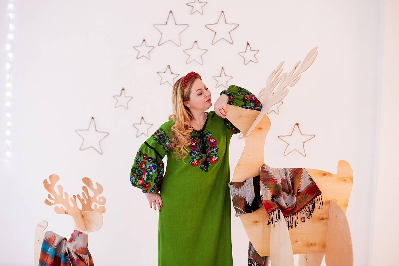 В чем встречать Новый год платье-вышиванка