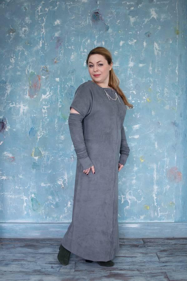 Платье из замши замшевое платье из искусственной замши