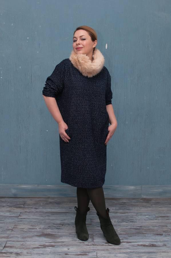 платье кокон повседневный стиль