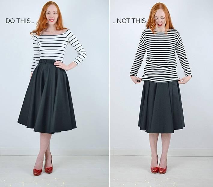 юбка со складками вязание