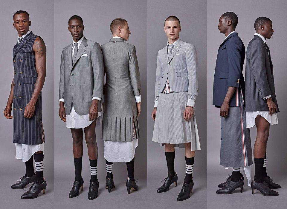 Мужчины в клетчатых юбках