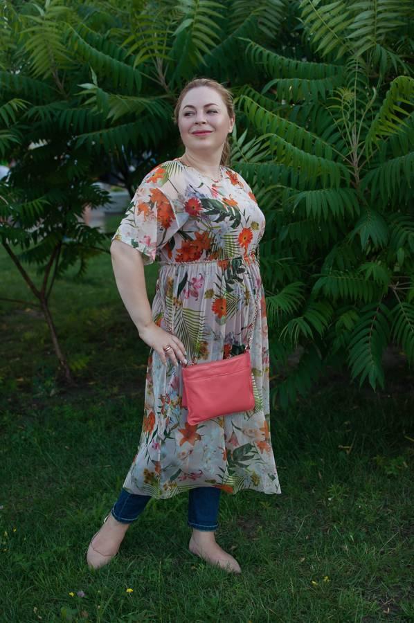 летнее платье прозрачное с джинсами с чем как носить