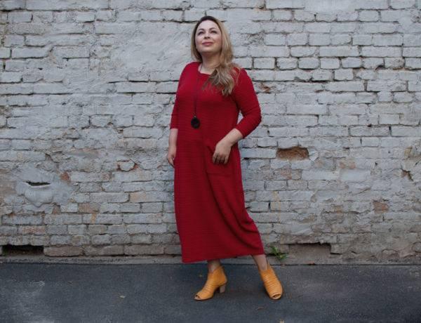 красное платье модный цвет 2017 красный гренадин с чем носить Зося Янишевска