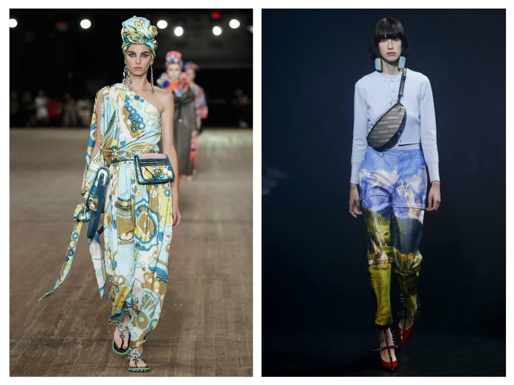 модные тренды весна 2018 сумки на поясе