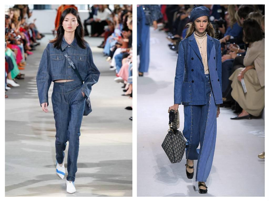 модные тренды весна 2018 темный деним джинс