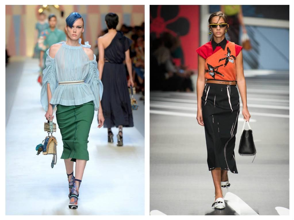 модные тренды весна 2018 юбка-карандаш