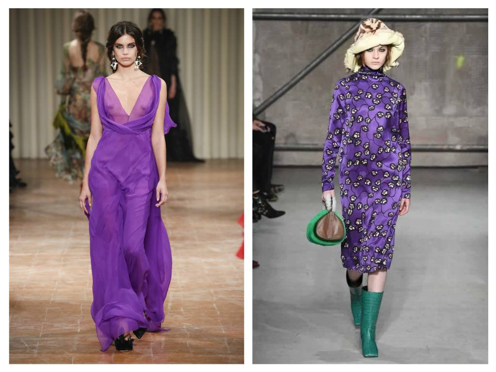 модные тренды весна 2018 ультрафиолет яркие цвета