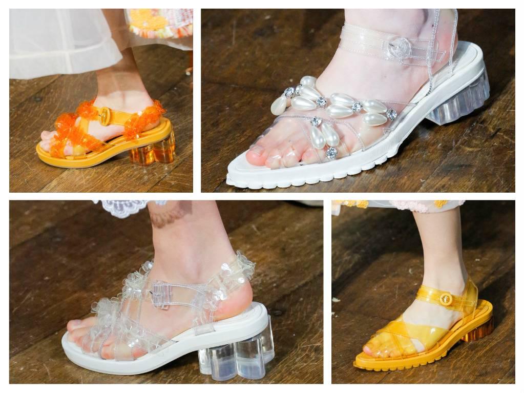 модная обувь весна 2018 лето модные тренды какая обувь в моде simone rocha