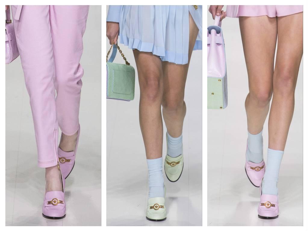 модная обувь весна 2018 лето модные тренды какая обувь в моде versace
