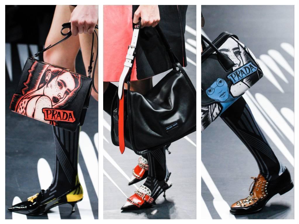 модная обувь весна 2018 лето модные тренды какая обувь в моде Prada
