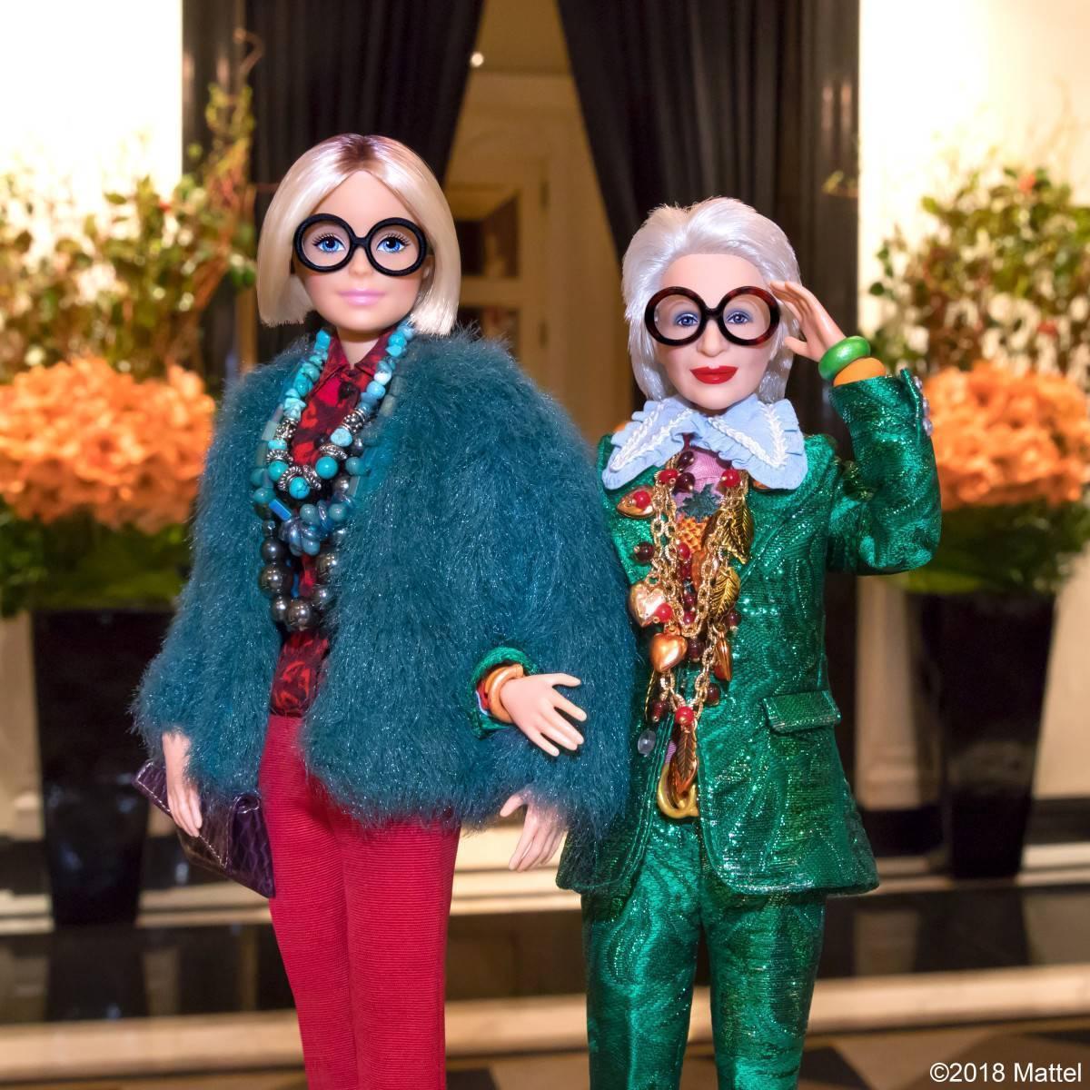 Айрис Апфель кукла Барби икона стиля
