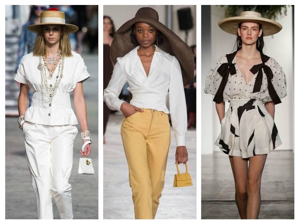 модные аксессуары весна лето 2018 соломенные шляпы какие в моде как носить