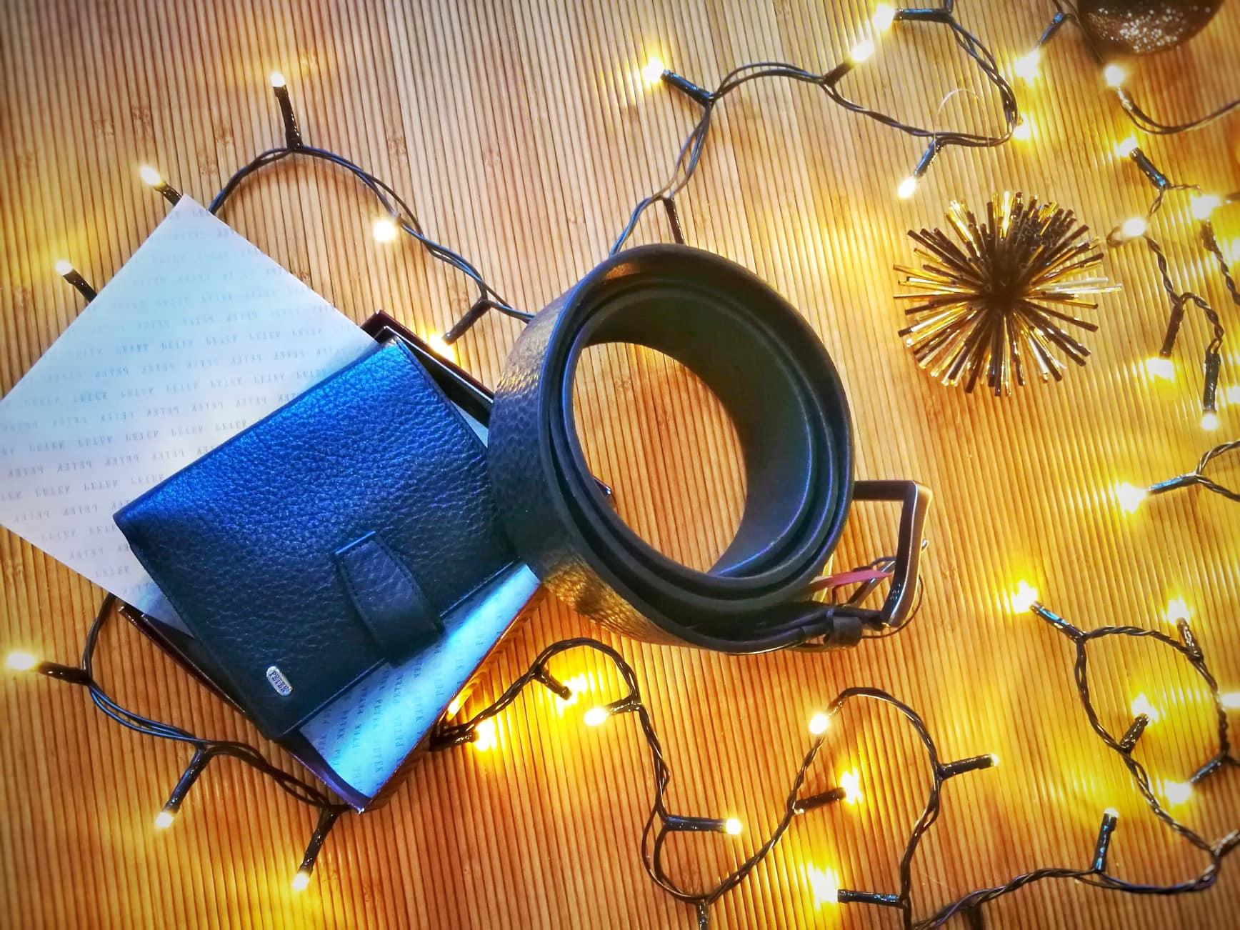 подарок мужчине кожаный ремень портмоне кошелек купить