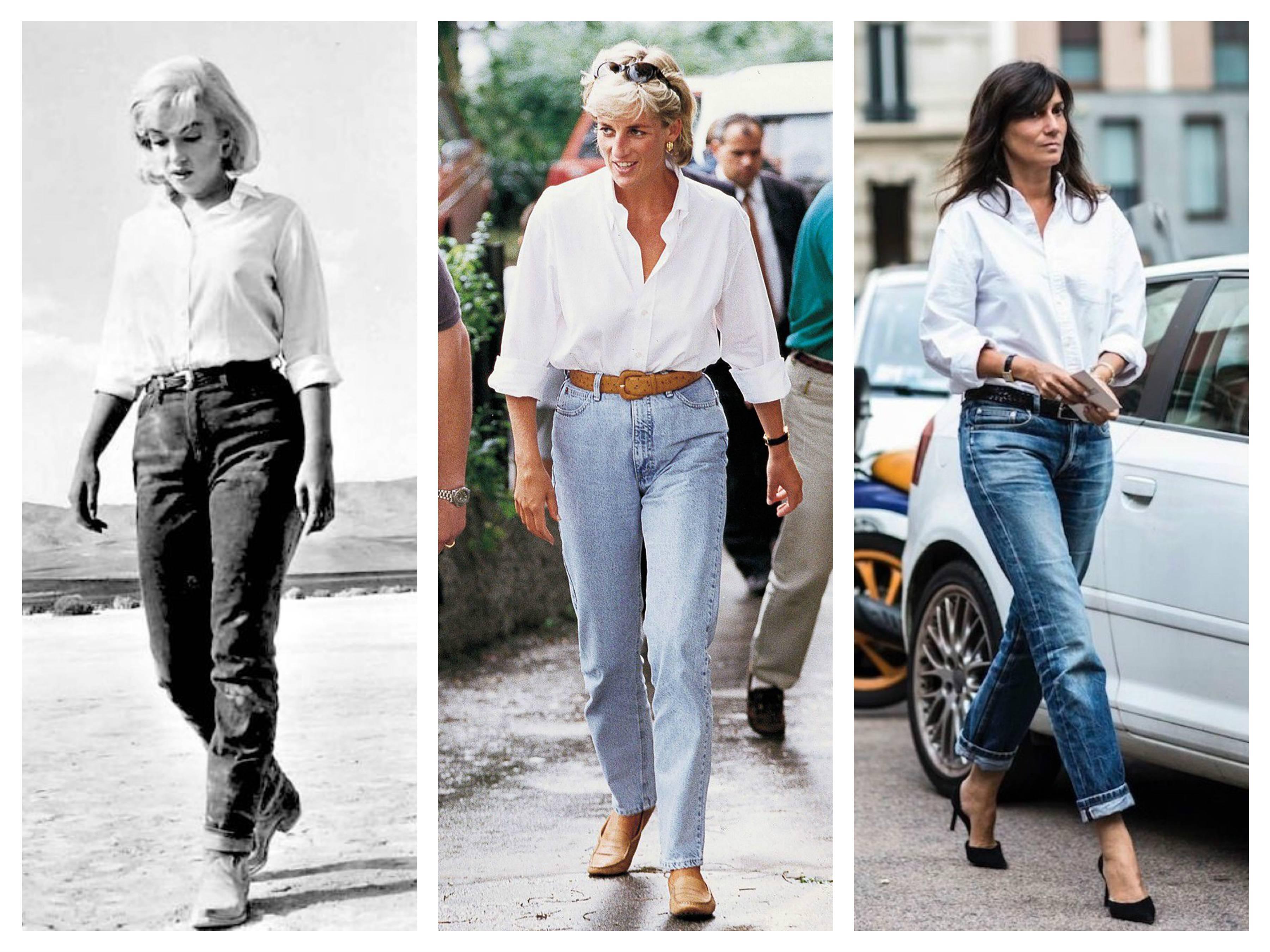 модные тренды 2019 белая рубашка джинсы как носить