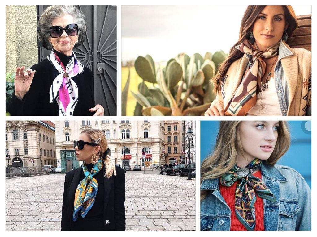 платки, хустки, как носить модный тренд