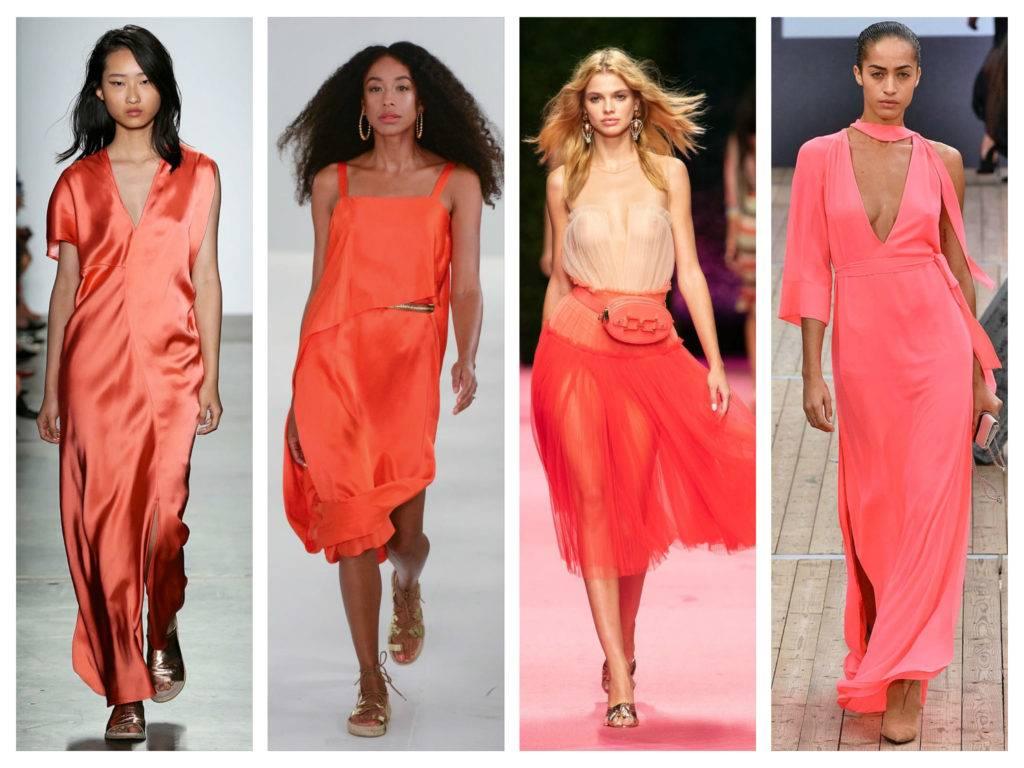 модные тренды 2019 года коралловый цвет