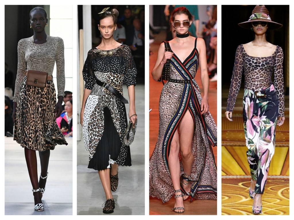модные тренды 2018 смешение принтов леопардовый принт анималичтисекие