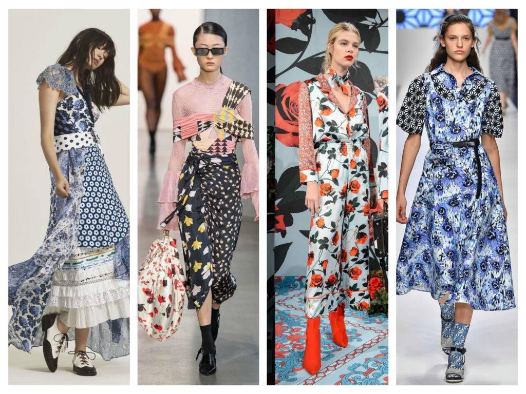 модные тренды весны 2018 сочетание принтов