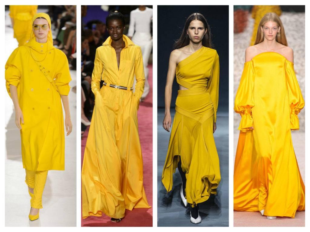 модные тренды весны 2019 цвет горчицы меда