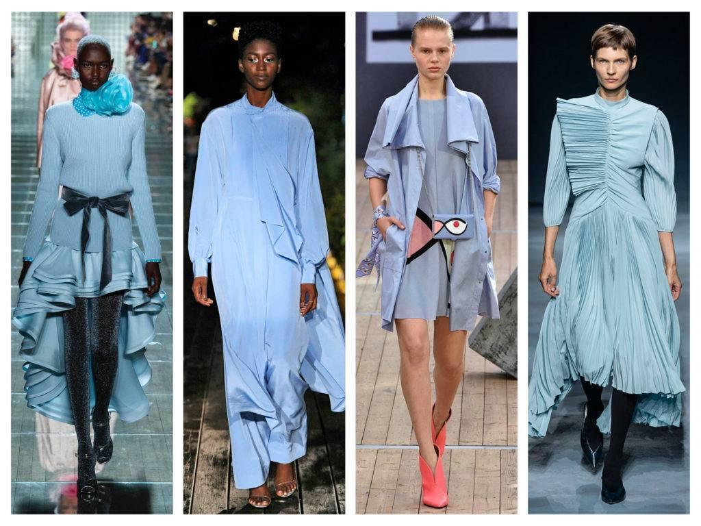 модные тренды весны 2019 голубой цвет