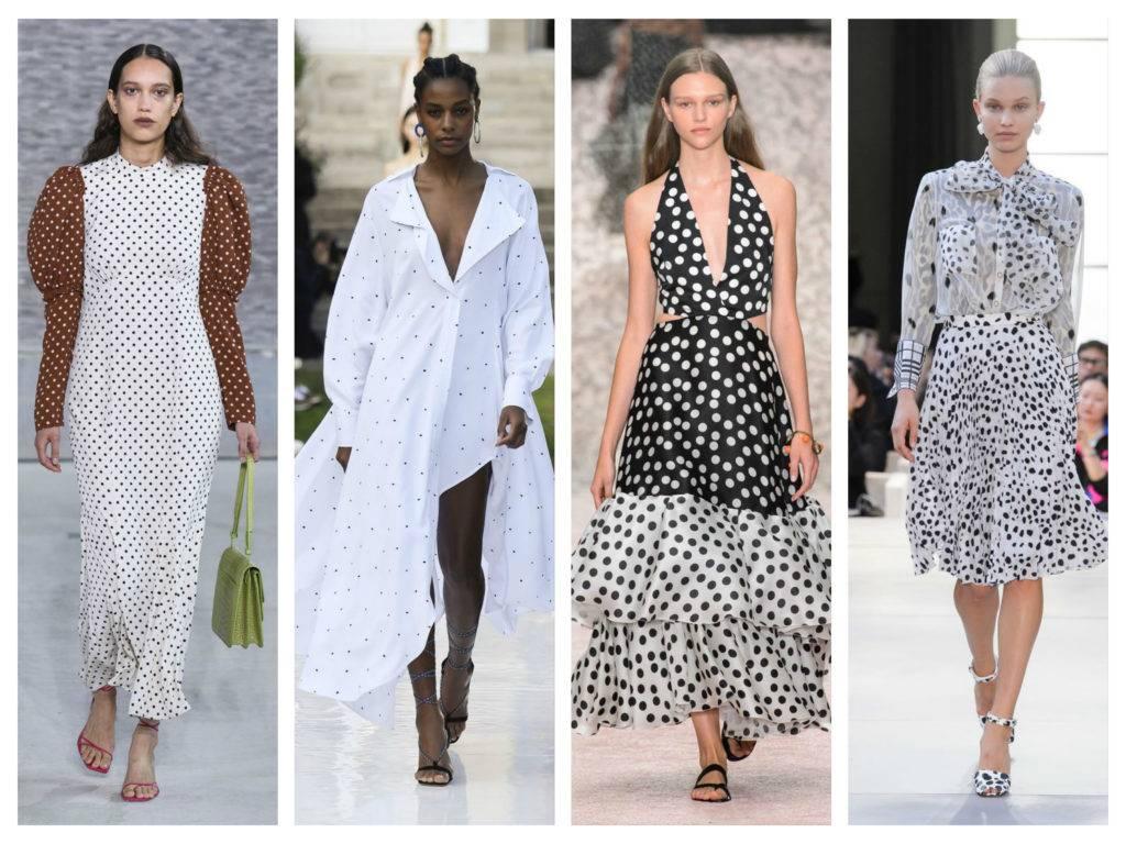модные тренды весны 2019 платья в горошек
