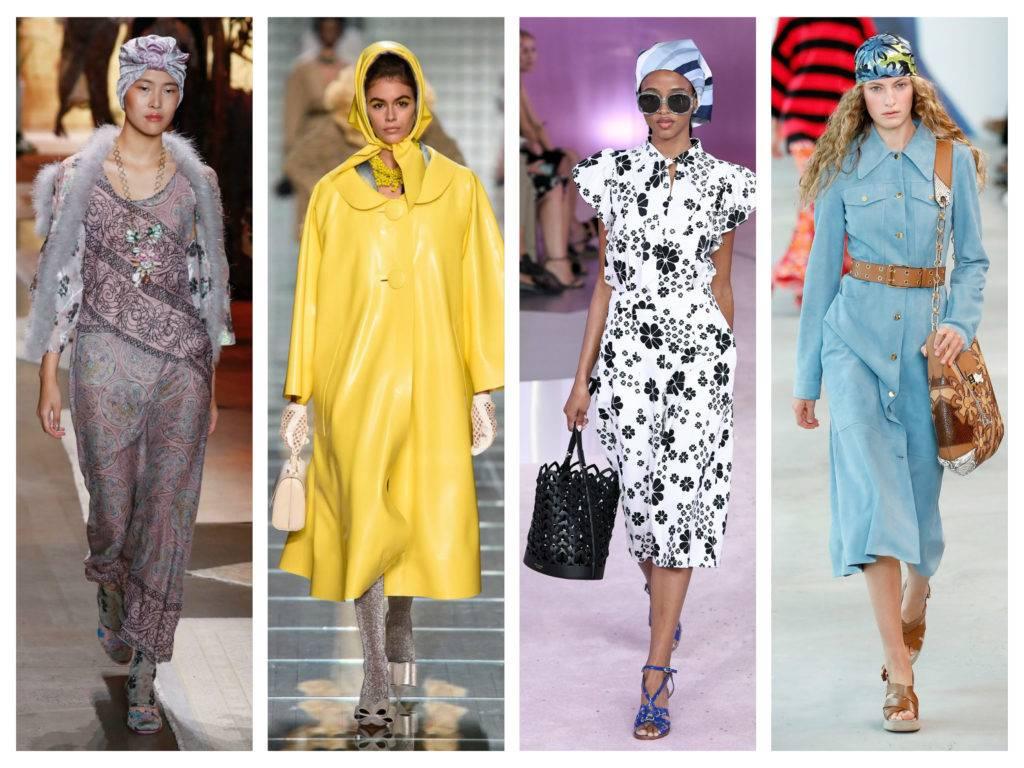 модные тренды весны 2019 платки на голове