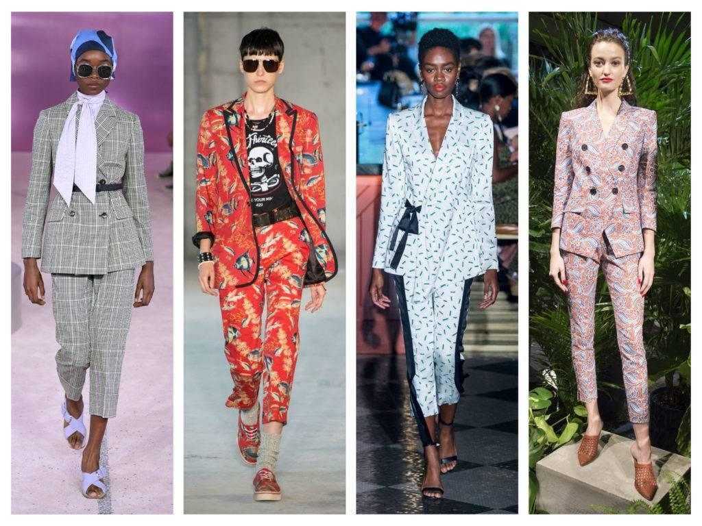 модные тренды весны 2019 брючные костюмы