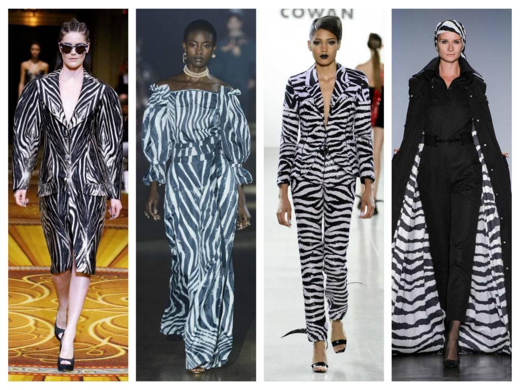 модные тренды весны 2019 принт зебра