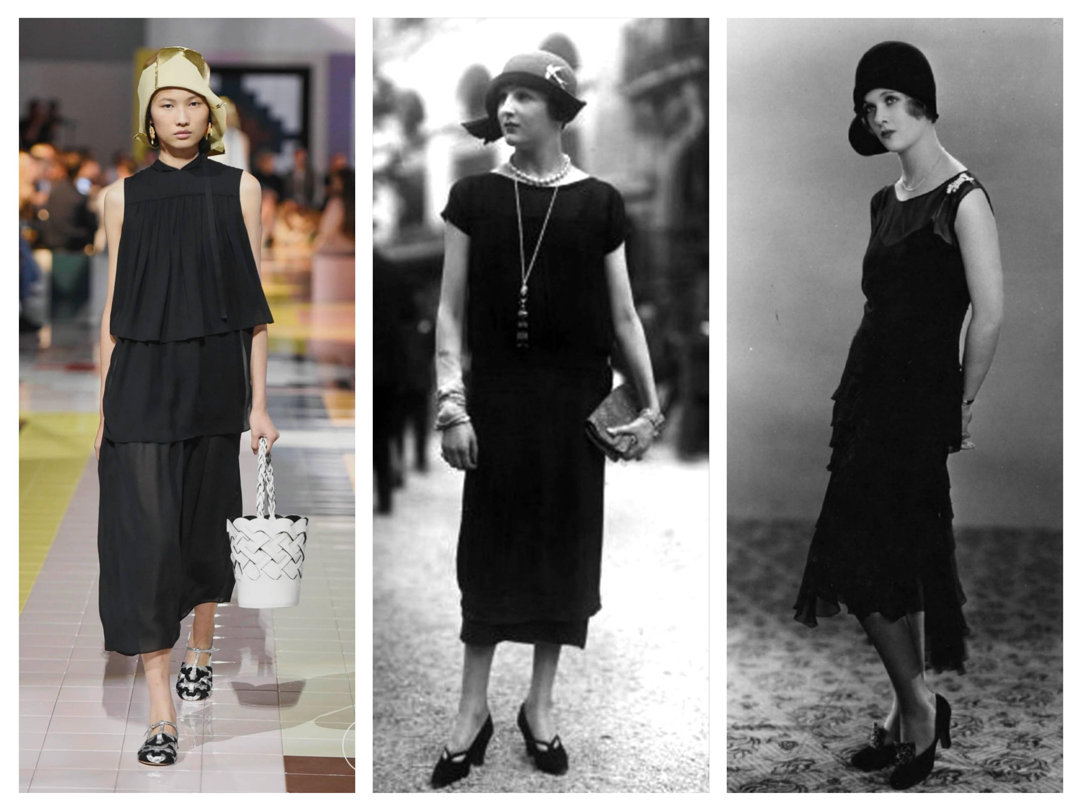 мода 20-х годов маленькое черное платье маленька чорна сукня