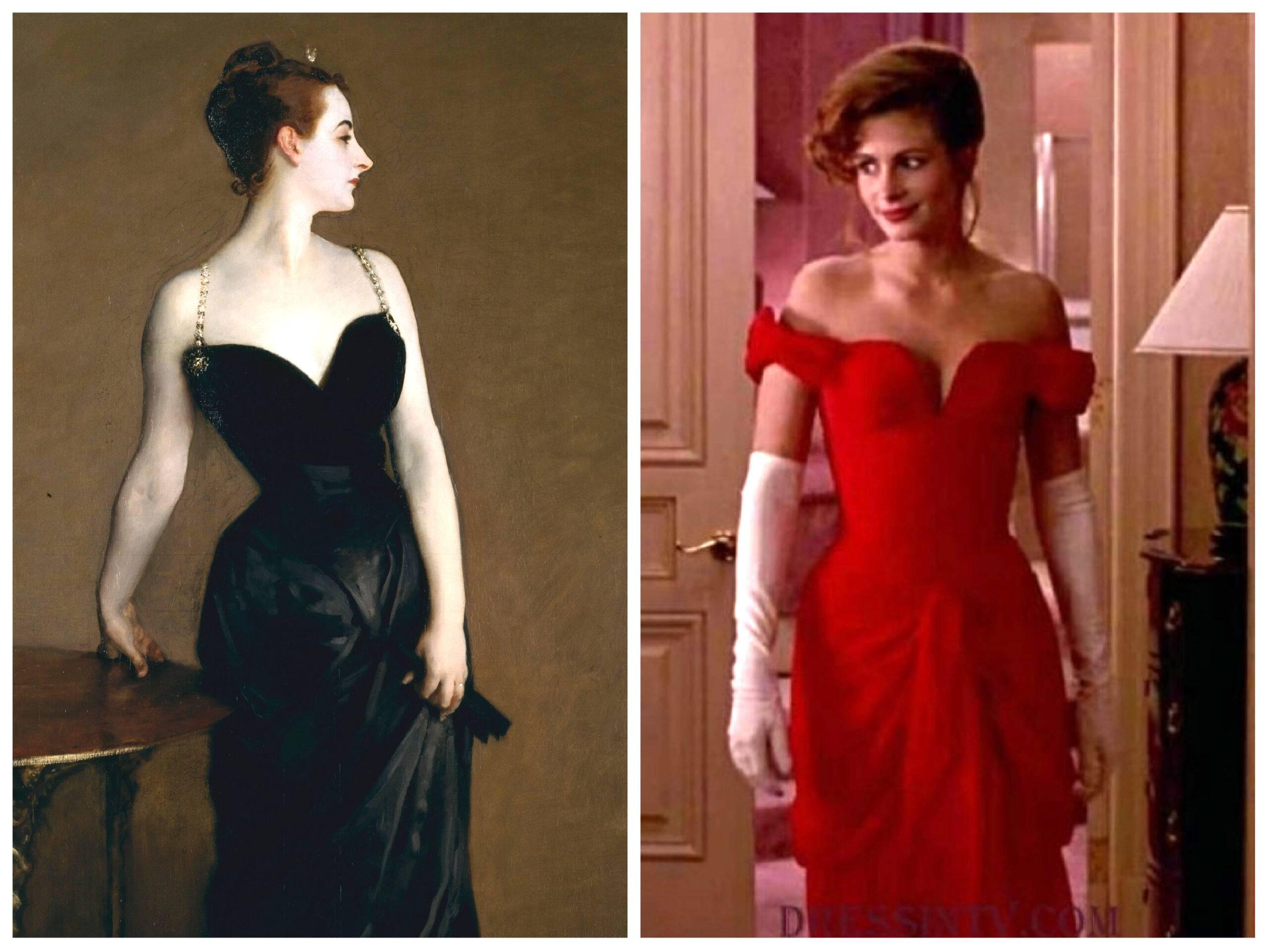 красотка костюмы из фильма Джулия Робертс красное вечернее платье