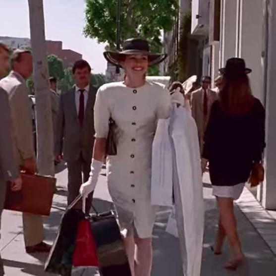 красотка костюмы из фильма Джулия Робертс белое платье