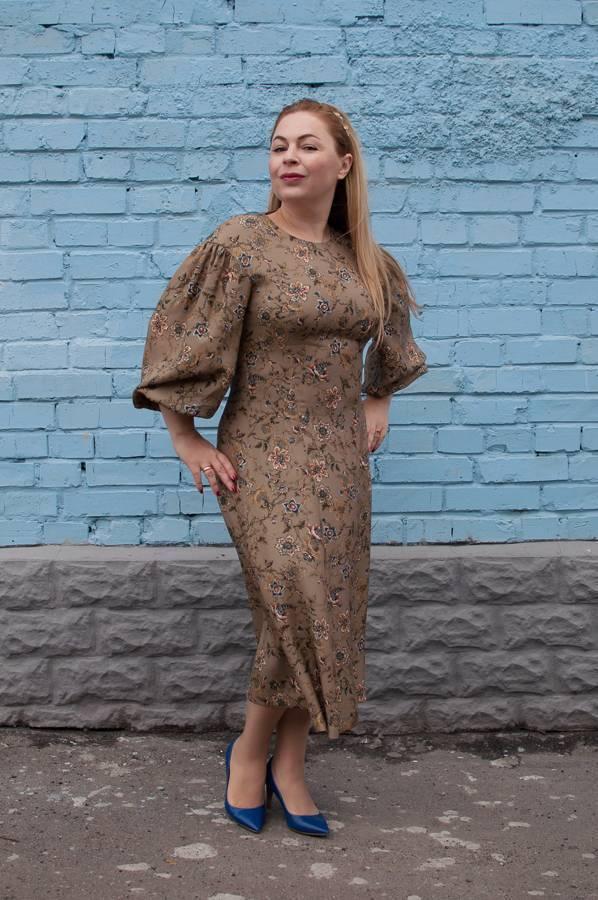 Модные осенние платья с принтом