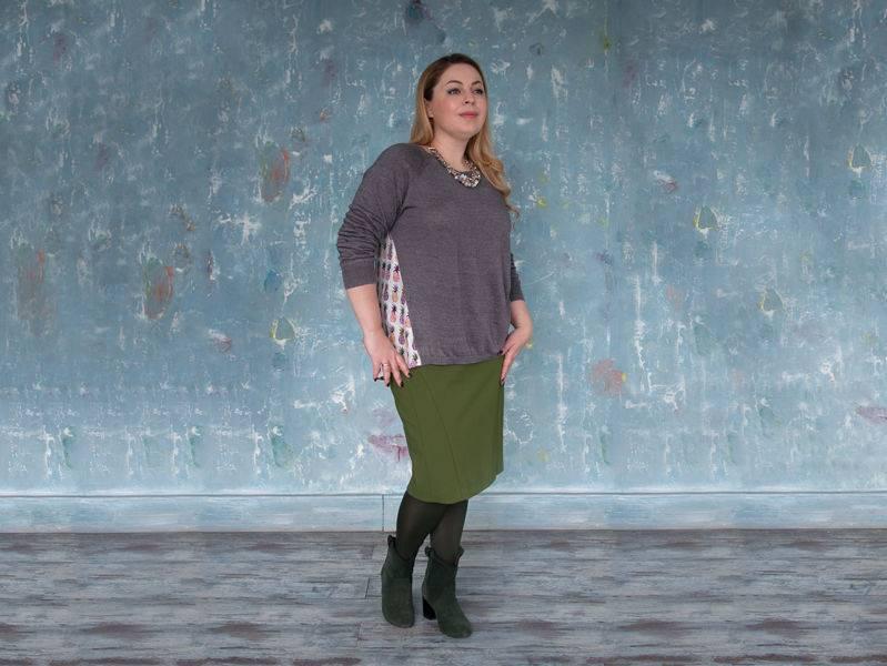 С чем носить юбку карандаш фото зимой трикотажную нижу колена с завышенной талией