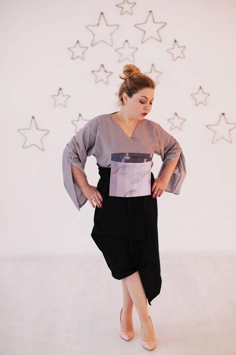 платье оригами юбка одежда в японском стиле