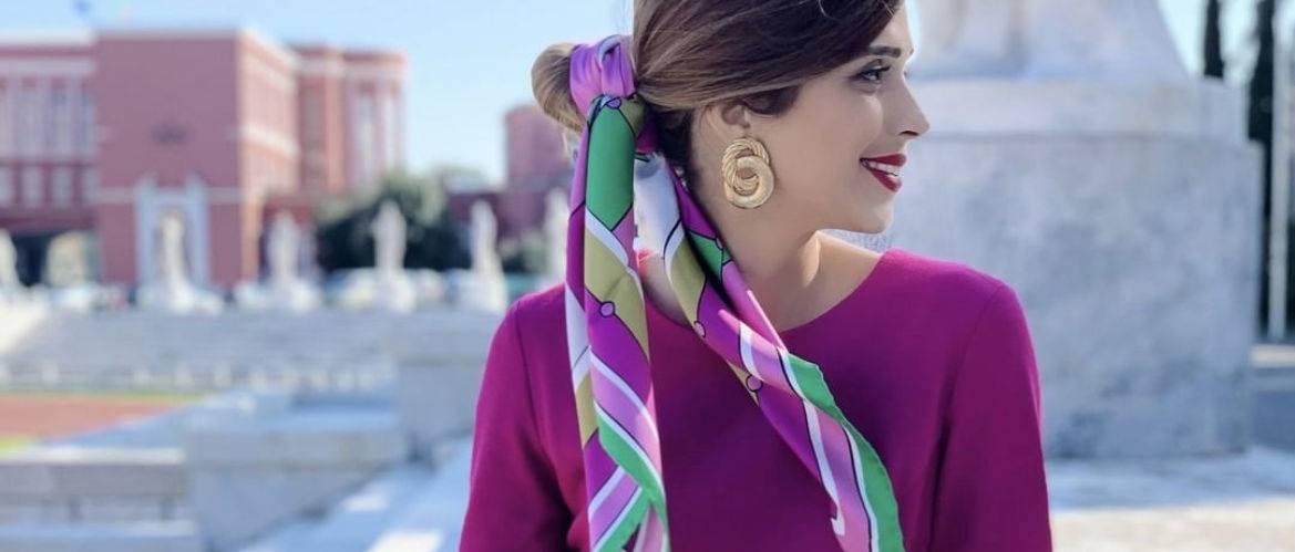 платки, хустки, как носить на голове модный тренд