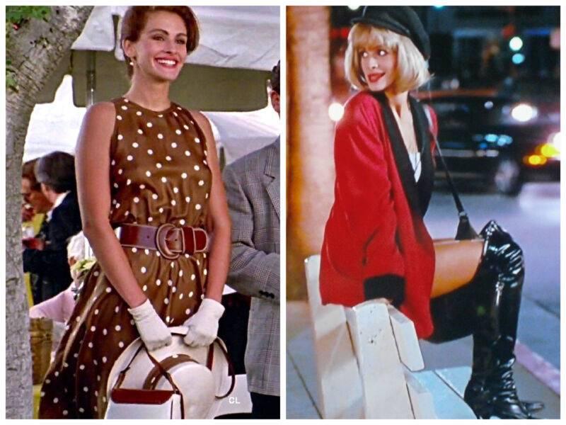 красотка костюмы из фильма Джулия Робертс платье в горошек наряд проститутки